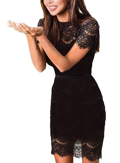 Vestido negro corto elegante