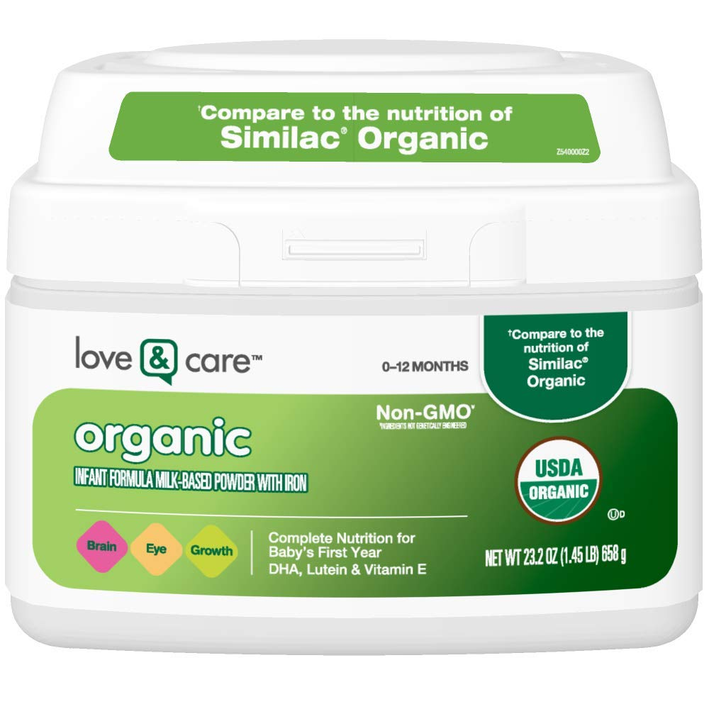 Love & Care Organic Infant Formula Milk-based Powder With Iron, 23.2 Ounce