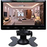 CAIRUTE® 7 Inch Ultra Thin 16:9 Super HD 1024*600 TFT LCD Color Car Rear View Monitor DVD VCD Headrest Monitor Support Audio Video HDMI VGA