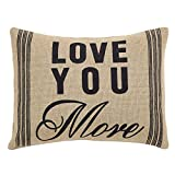 VHC Brands Classic Country Farmhouse Pillows & Throws - Love You More Tan 14'' x 18'' Pillow