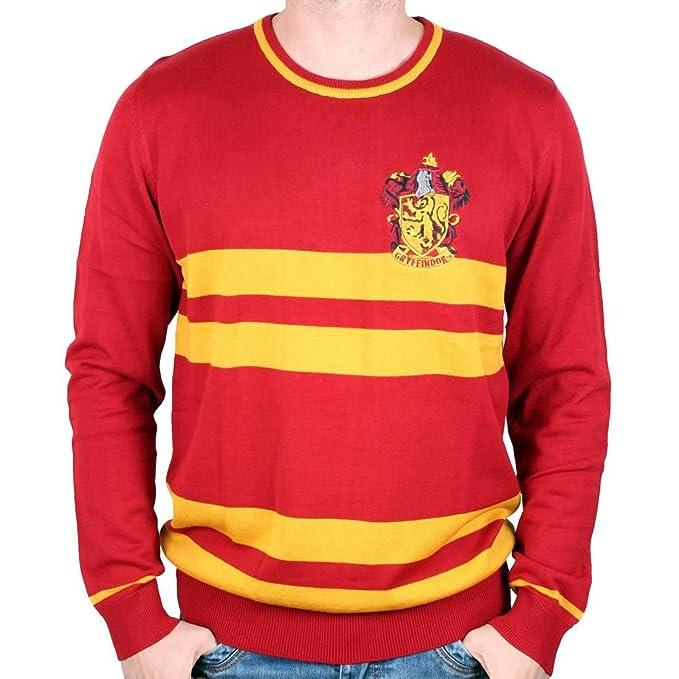Cotton Division Harry Potter Strick Pullover Gryffindor Wappen Rot Gelb   Amazon.de  Bekleidung 5b3512cc91