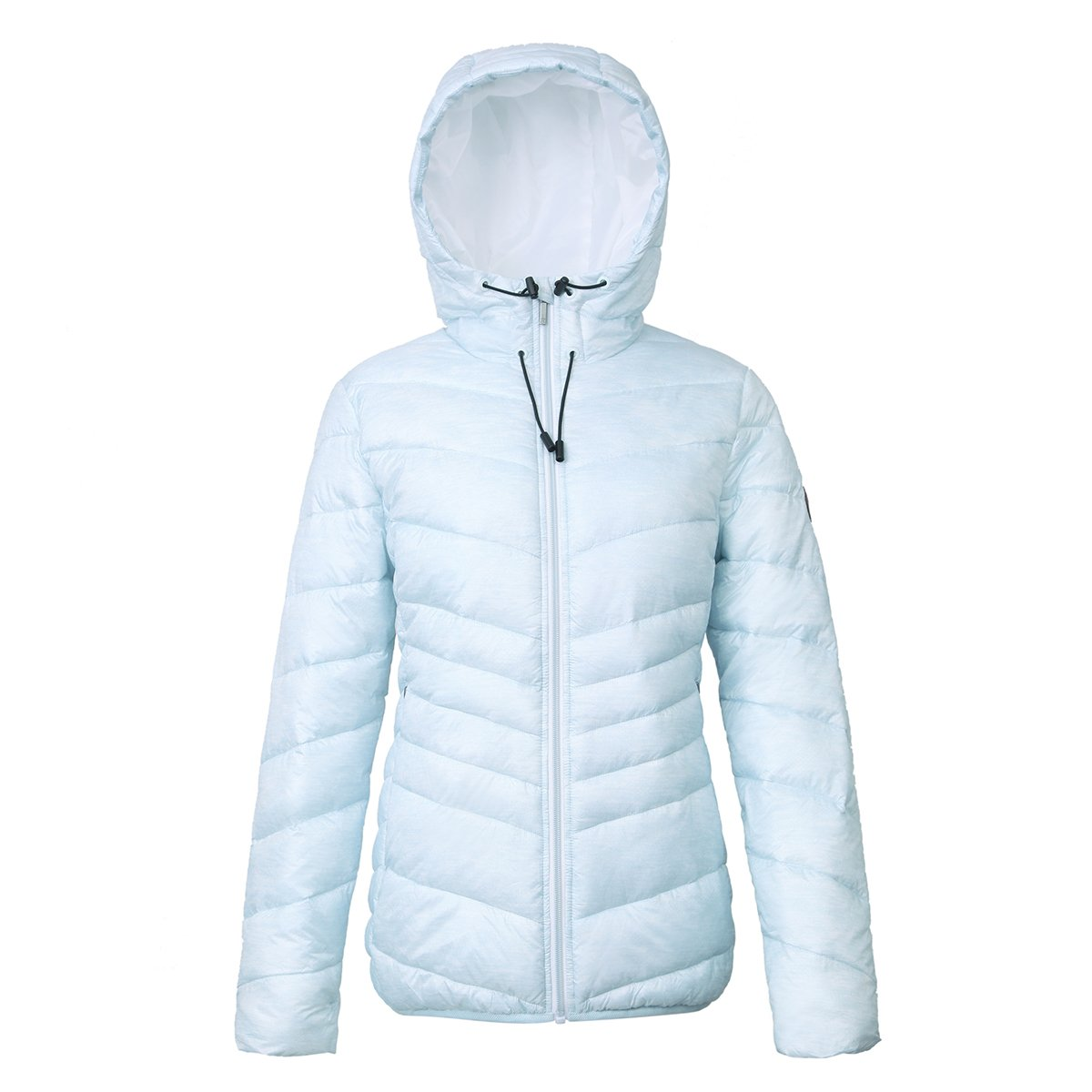 Rokka& Rolla Women's Lightweight Water Resistant Hooded Quilted Poly Padded Puffer Jacket