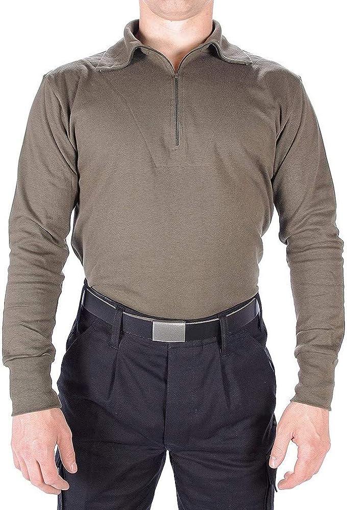 Mil-Tec BW – Camiseta Camisa Verde según TL Bundeswehr Camisa Camiseta Manga Larga Manga Larga Varios Tamaños, Hombre, Color Verde Oliva, tamaño Large: Amazon.es: Deportes y aire libre