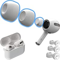 CharJenPro Memory Foam Ear Tips for AirPods Pro w/Silicone Shield. Patented Design. AirFoams Pro Active 2.0 Lasts 5X…