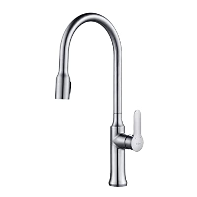 Kraus KPF-1660CH Modern Nola Single Lever Concealed Pull Down Kitchen Faucet
