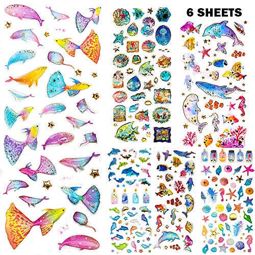 Next2U Self-Adhesive Glitter Craft Crystal Sticker - Sticker for Books, Phone, Laptops, Water Bottle - Ocean Collection