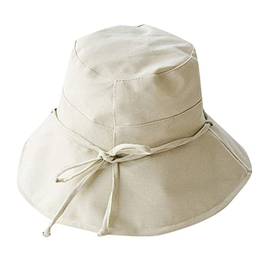a40f43d2 Big Bowknot Straw Hat-Updated Version of The Classic Bucket Hat-UPF 50+  Women's Reversible Bucket Hat Beach Sun Hat Beige at Amazon Women's  Clothing store: