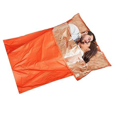 LOLIVEVE Saco De Dormir De Emergencia Ultraligero Bolsas De Dormir De Primeros Auxilios De Camping Bolsas