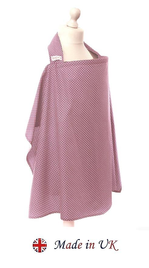 dusky pink white dot BebeChic with drawstring Storage Bag Breastfeeding Cover *105cm x 69cm* Boned Nursing Apron 100/% Cotton