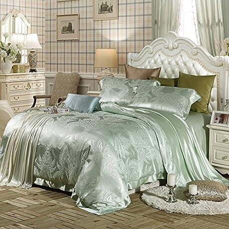 Lilysilk 3pcs Silk Bedding Sheets Set Jacquard 19 Momme Twin
