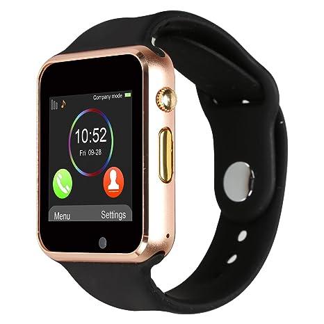 Kivors Reloj Inteligente A1 Bluetooth Smartwatch con TF / Ranura de Tarjeta SIM para Usar Como Teléfono ...