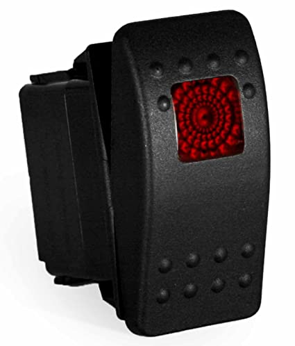 amazon com carling rocker switch illuminated red v1d1, contura