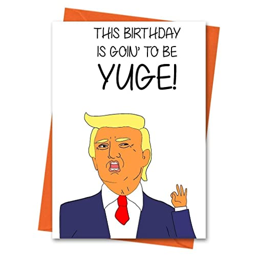 Image Unavailable Not Available For Colour Funny Birthday Card Trump Donald