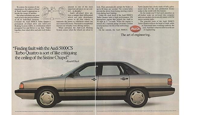 """Magazine Print ad: 1986 Audi 5000 Series, 5000CS Turbo Quattro,""""Finding"""