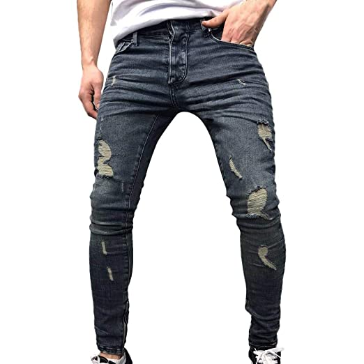 Pants,Mens KpopBaby Winterv Autumn Denim Cotton Straight Ripped Hole Trousers Distressed Jeans Hollow Out