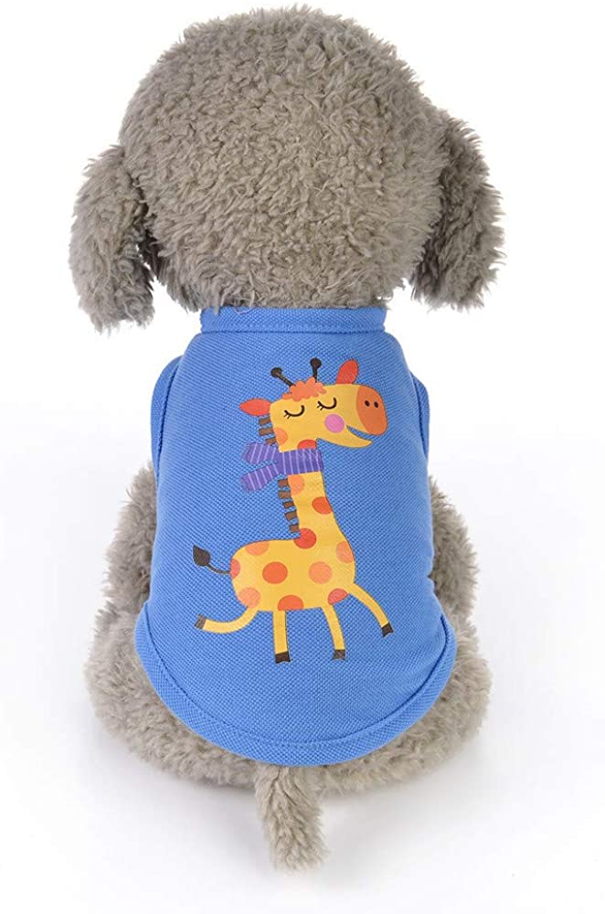Boomboom Cute Animals Cartoon Shirts Clothes for Small Dogs