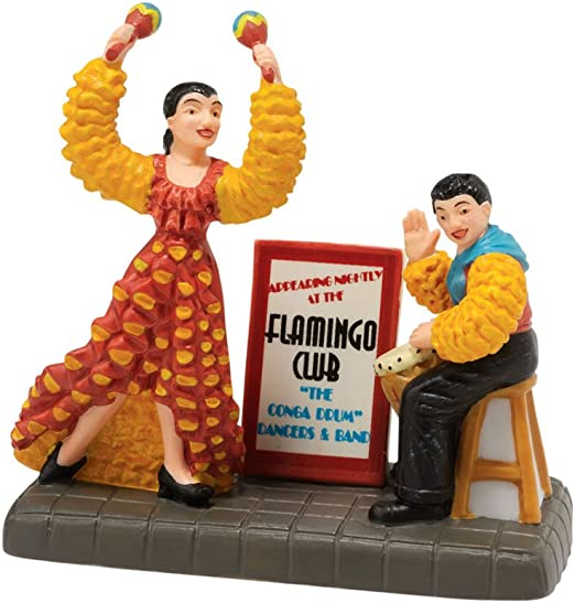 Department 56 Christmas in the City Village The Flamingo Revue Accessory Figurine