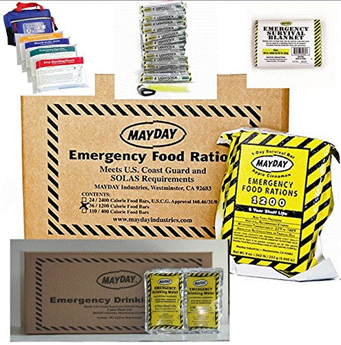 Mayday Emergency Preparedness Boating Food & Water Package by Mayday