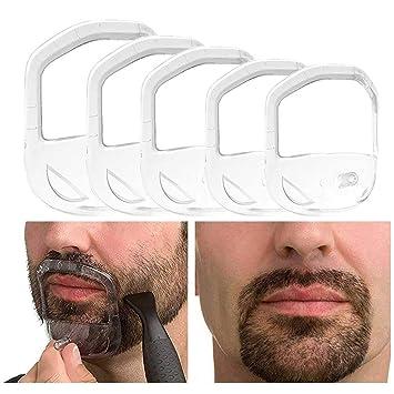 Outstanding Amazon Com 5Pcs Transparent Beard Shaper Styling Tool Different Schematic Wiring Diagrams Amerangerunnerswayorg