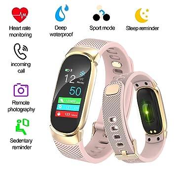 LIGE Fitness Trackers,Montre Connectée Écran Couleur étanche Podomètres Moniteur de fréquence Cardiaque Surveillance du