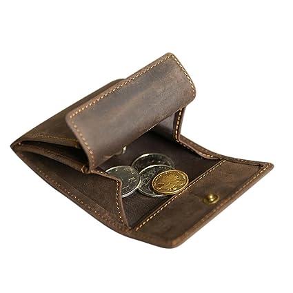 495ccce636fd3 Genuine Leather Coin Purse Mini Cash Wallet Men Women Coin Pouch Tray Money  Change Holder Best