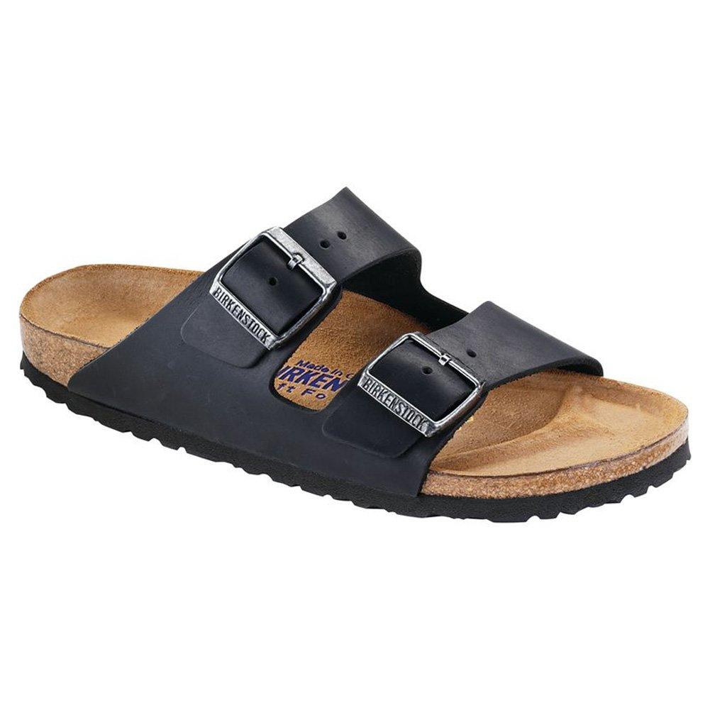 Birkenstock Arizona Soft Footbed Leather Sandal B00LT9KWWM 39 N EU|Black Oiled Leather Sfb