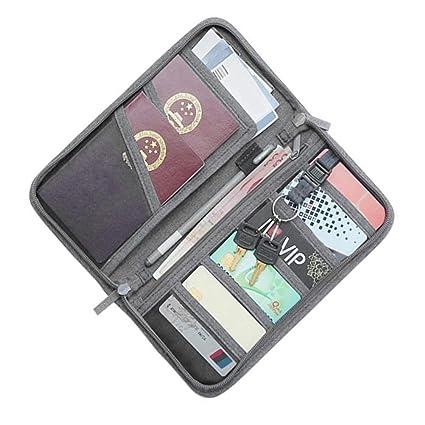 932b21ada242 TOPBATHY Multi-Function Important Travel Passport Credit Card ...