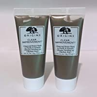 Origins Clear Improvement Charcoal Honey Mask to Purify and Nourish 1 Oz Total, 0.5 oz x 2