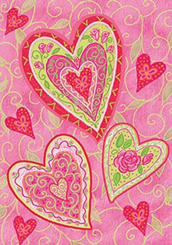 Toland Home Garden Lovely Hearts 28 x 40 Inch Decorative Val
