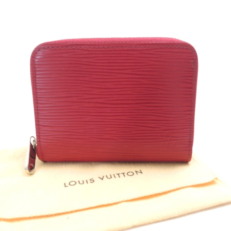 (ルイヴィトン)LOUIS VUITTON コインパースジッピーコインパース フューシャ コインケース エピレザー レッド 中古 B074MNZKYV
