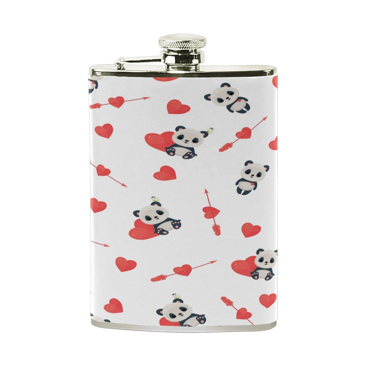 注目 Alaza Alaza Proof Panda Loveヒップフラスコステンレススチール8オンスポケットショットのフラスコLiquor B075ZS76FD Whiskey VodkaラムPUレザーWrapped 100 % Leak Proof B075ZS76FD, スーツケース専門店Koffer Garage:be8a2ccf --- a0267596.xsph.ru
