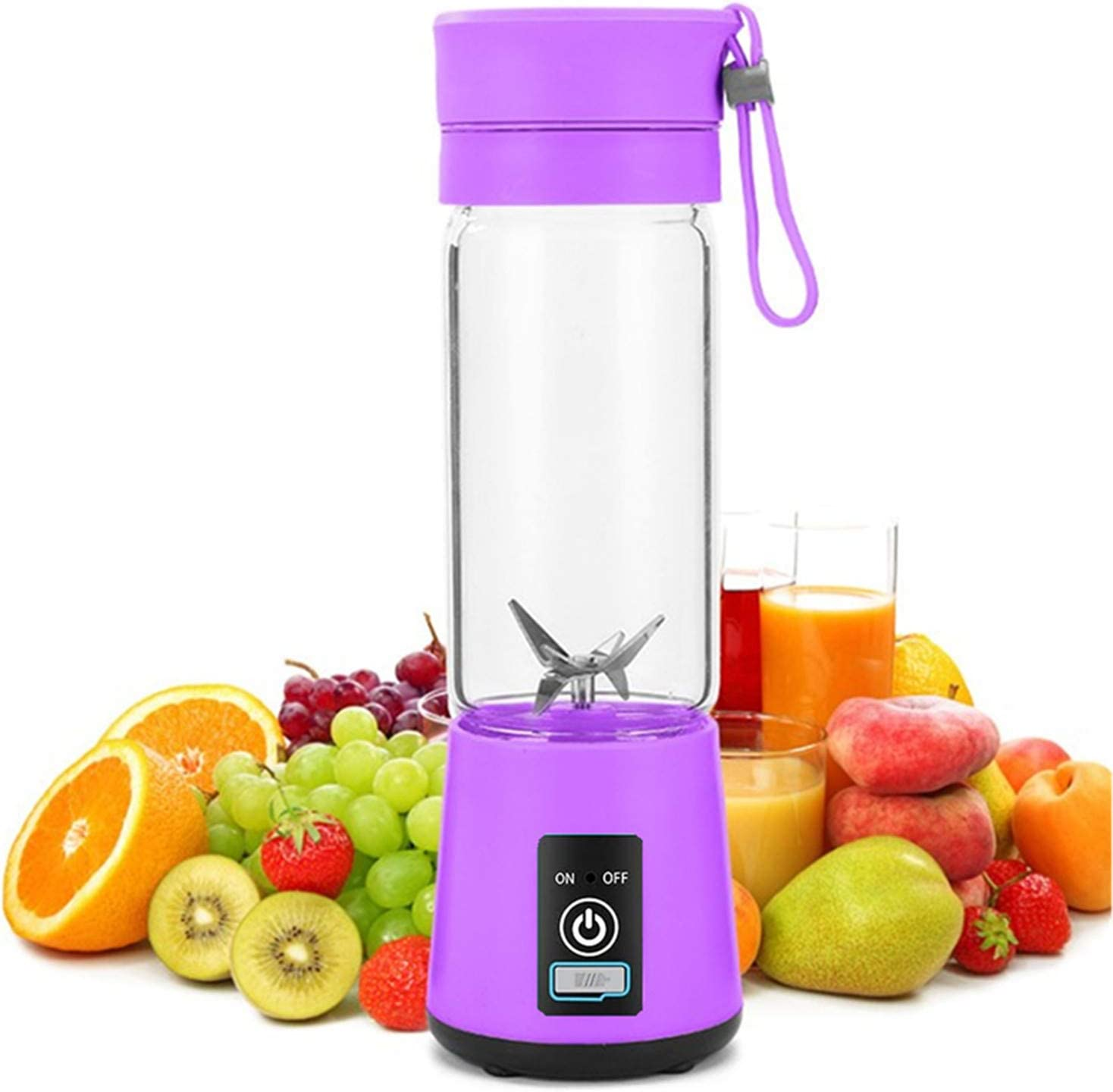 JSDOIN Portable Blender USB Rechargeable, Hand blender for shakes and smoothies smoothie personal blenders for kitchen beutty blender