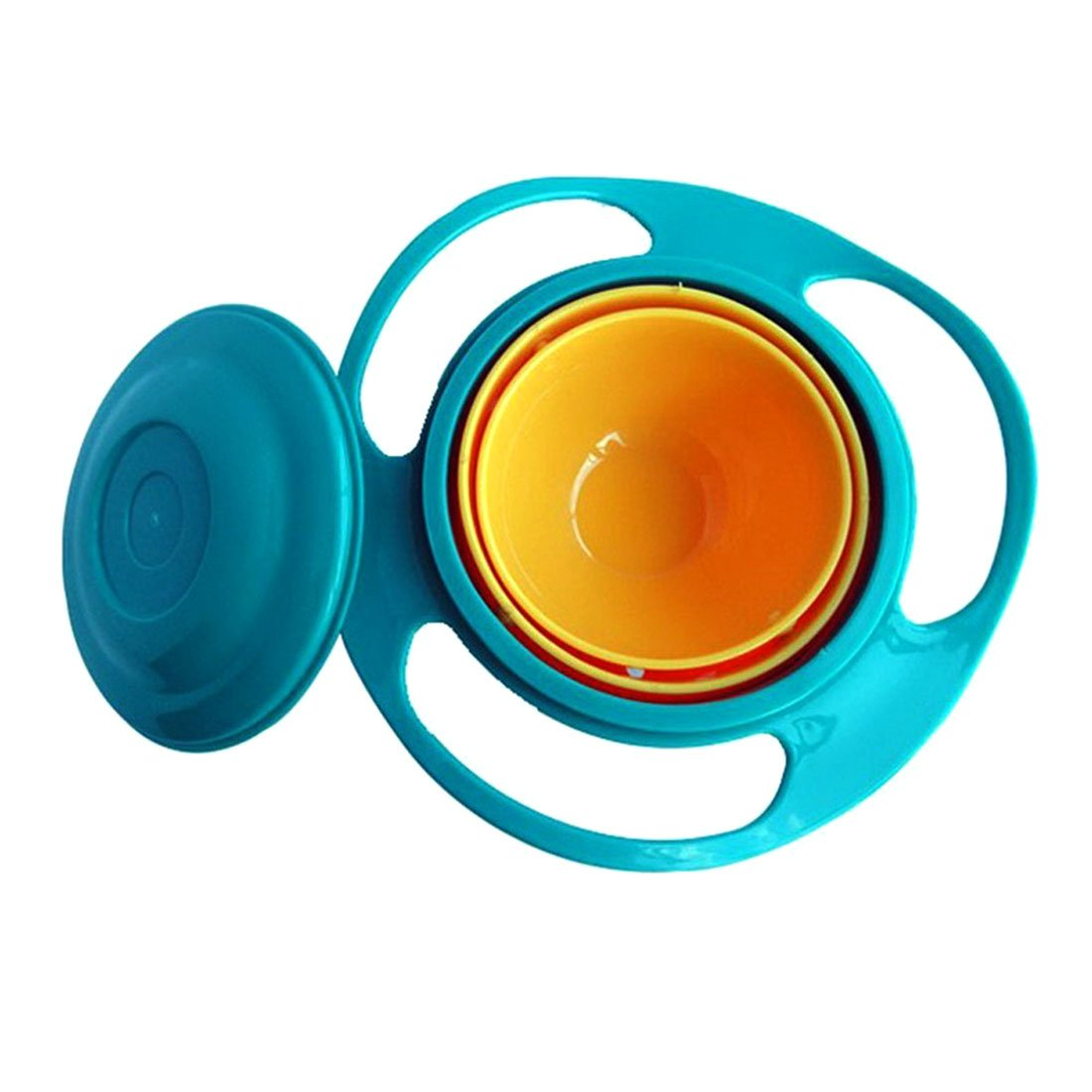 Baby Bowl 360 Rotate Spill-Proof Bowl Dishes Baby Toy Dishes Solid Feeding