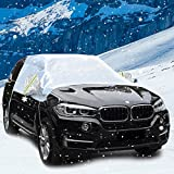 Car Snow Cover Automotive Windshield Snow Covers Windproof Dustproof Rainproof Car Covers Sun Shade Protector Snow Ice Frost Protectors Snow Wiper Ice Removal with Mirror Snow Cover