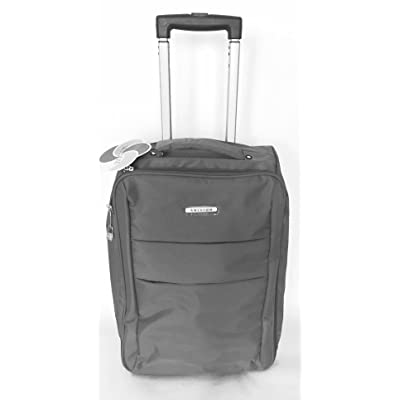 "20"" Grey Foldable Rolling Carry On Light Weight Luggage W/ Retractable Handle"