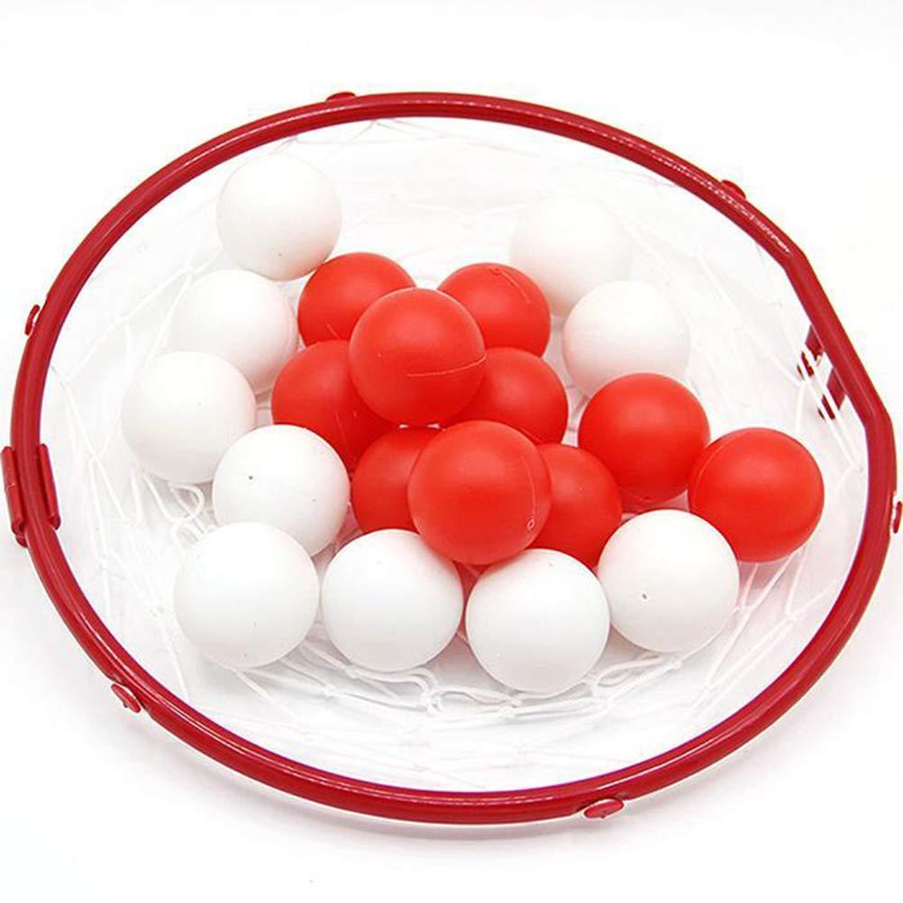 Mini Juguete de Canasta de Baloncesto con Juguete Interactivo de educaci/ón temprana de 20 Piezas de Bolas