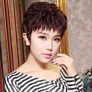 Amazon Com Women Girls Female Short Hair Wigs Short Curly