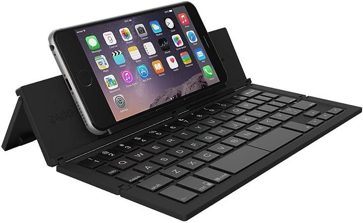 Zagg Pocket Keyboard Bluetooth QWERTY Inglés del Reino Unido Negro Teclado para móvil - Teclados para móviles (Negro, CE, FCC, Universal, QWERTY, ...