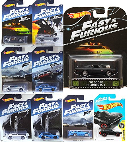 Toyota Van Models - Hot Wheels Fast Furious Retro '70 Dodge Charger Exclusive set 2017 + Dodge Charger New Model / Porsche 911 / Plymouth Road Runner / Honda / Ford Escort / Corvette Roadster / Toyota Supra / Suburu WRX