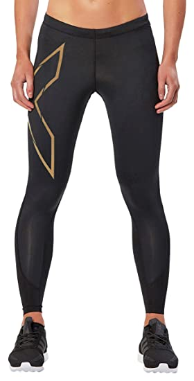 456aa3fd57 Amazon.com : 2XU Women's MCS Thermal Compression Tights, Black/Gold ...