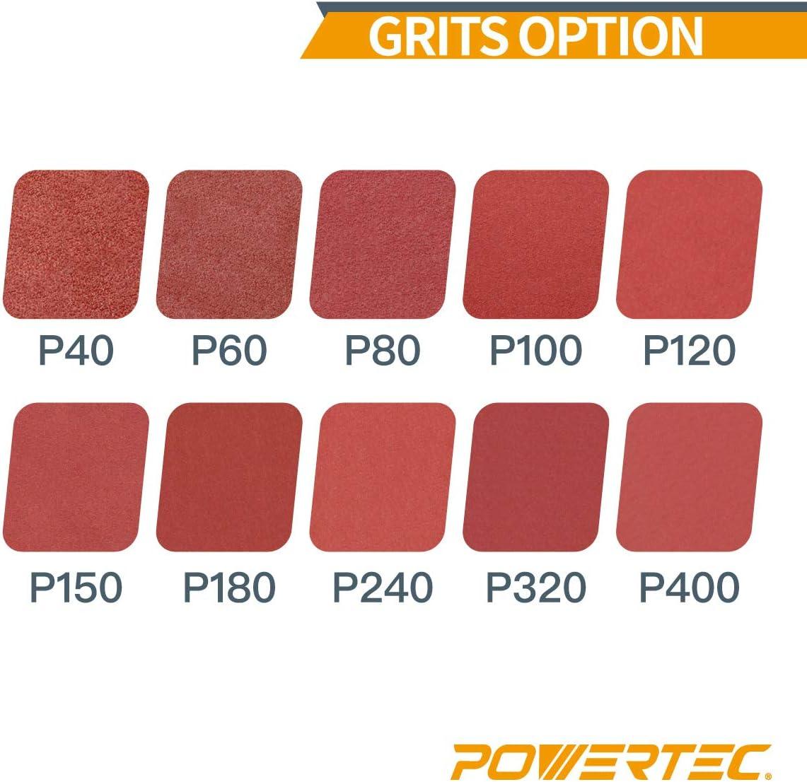 10-Pack POWERTEC 110090 4-Inch x 24-Inch 80 Grit Aluminum Oxide Sanding Belt