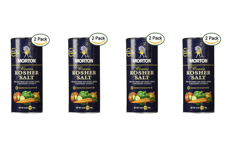 Morton Coarse Kosher Salt 16 oz. (Pack of 2) (4 Pack)