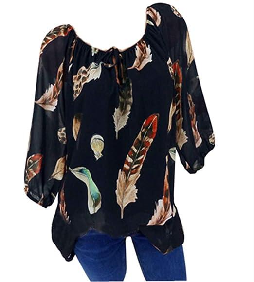 Oberteile Hemd T-Shirt Bluse Rundhalsausschnitt übergroß