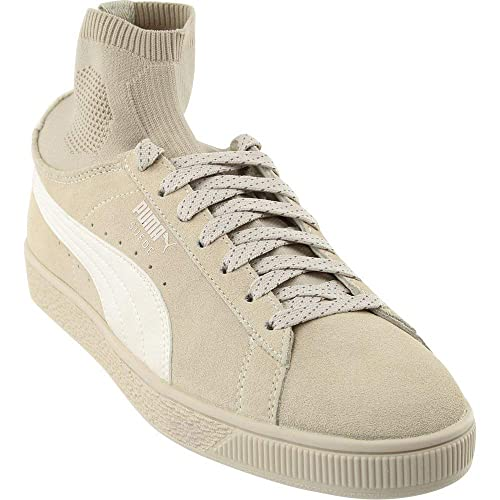 Puma Mens Suede Classic Sock Athletic & Sneakers Beige