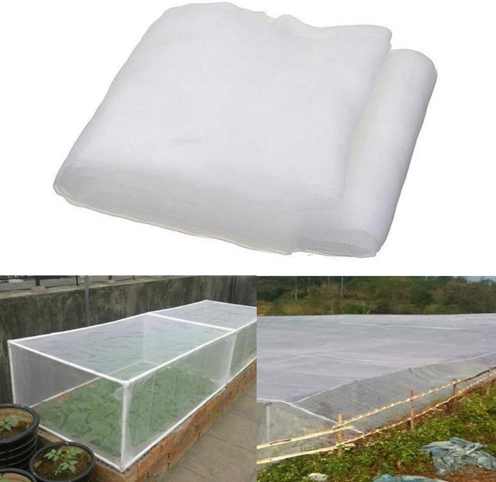 NTRA Insect Netting, 3.6 x 3 m Insect Protection Net Garden Vegetable Plant Protect Netting Grow Tunnel Fine Mesh for Vegetables Plants Fruits