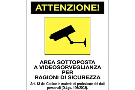 BES 18432 - Señal de Advertencia de videovigilancia, Placa ...