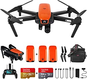 Autel Robotics EVO Foldable Drone with Camera,Live Video Drone with 60FPS 1080P 4K Wide-Angle Lens and Three-Way Obstacle Avoidance (Extra 2 Batteries)
