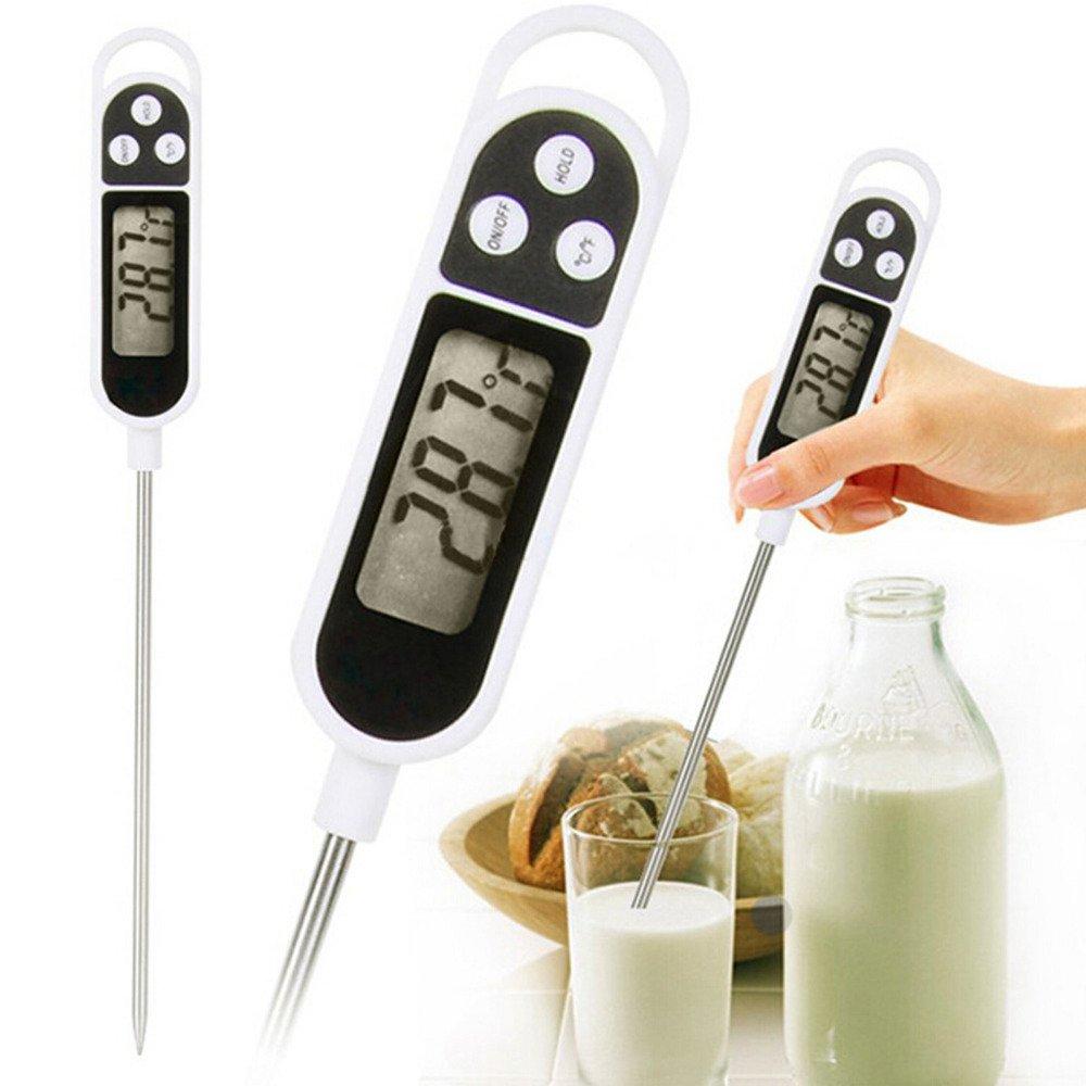 Termometro da cucina con display LCD digitale con sonda in acciaio INOX