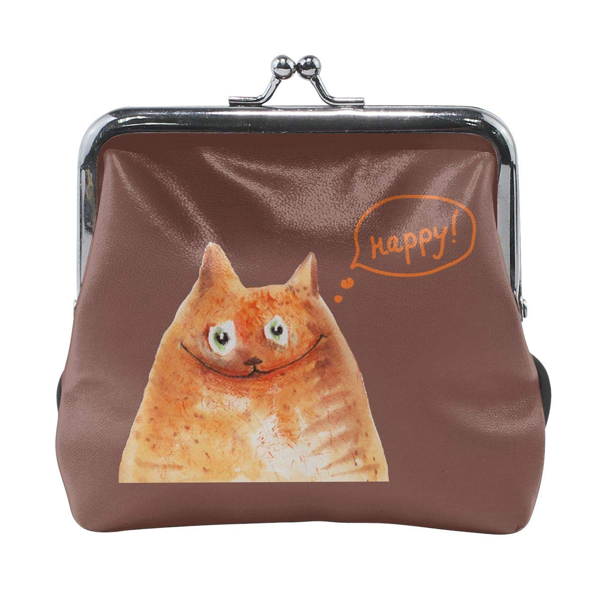 Fashion Happy Cat Credit Cards Buckle Coin Purse For Womens