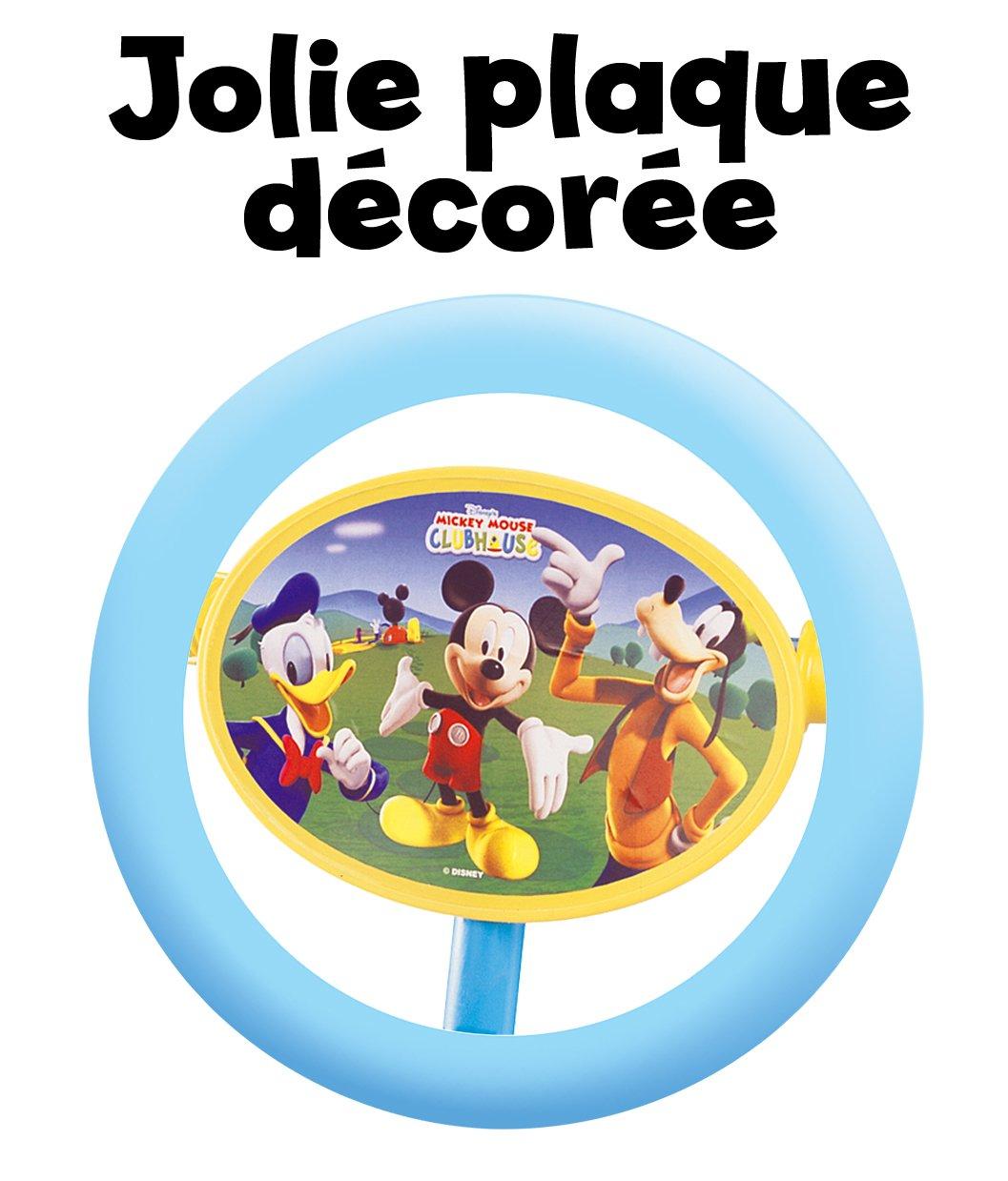 Disney J100046 Mickey Mouse - Patinete de 3 Ruedas, Color Naranja y Azul